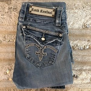 Rock Revival Distressed destroyed Rhinestone boot